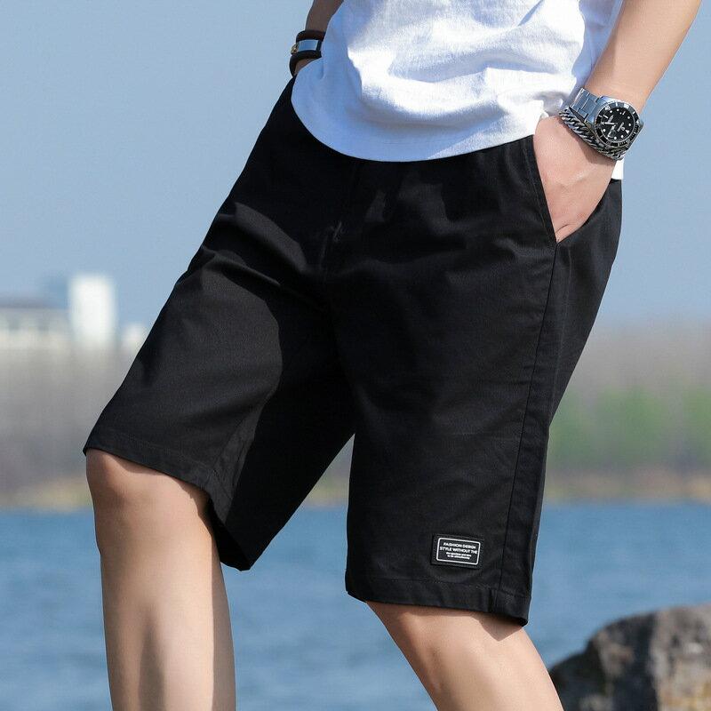 全店一件免運✦男士短褲男五分褲2021夏季新款寬鬆透氣健身跑步休閒運動褲沙灘褲✦男裝