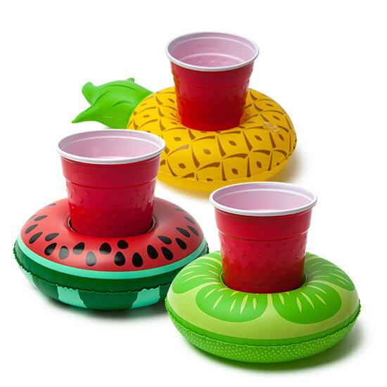 【美國BIGMOUTH】造型飲料杯游泳圈 水果款 0
