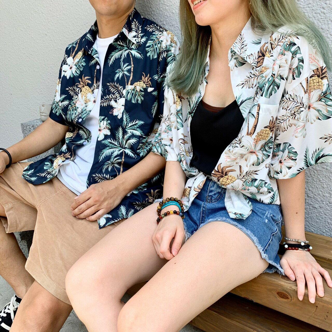 【滿千折百】椰子樹風格  襯衫 夏天