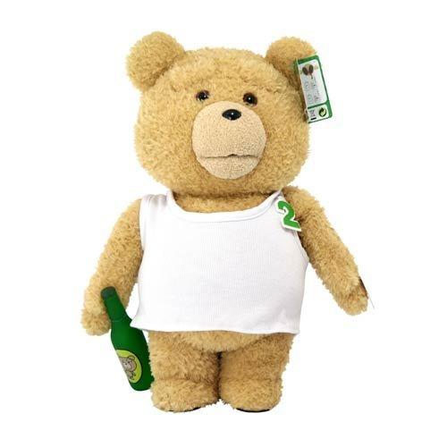 BEETLE PLUS 全新 美國正品 TED 熊麻吉 泰迪熊 絨毛熊 酒瓶 背心 發聲 電影完整對話 24吋 60公分 FUN-13 - 限時優惠好康折扣