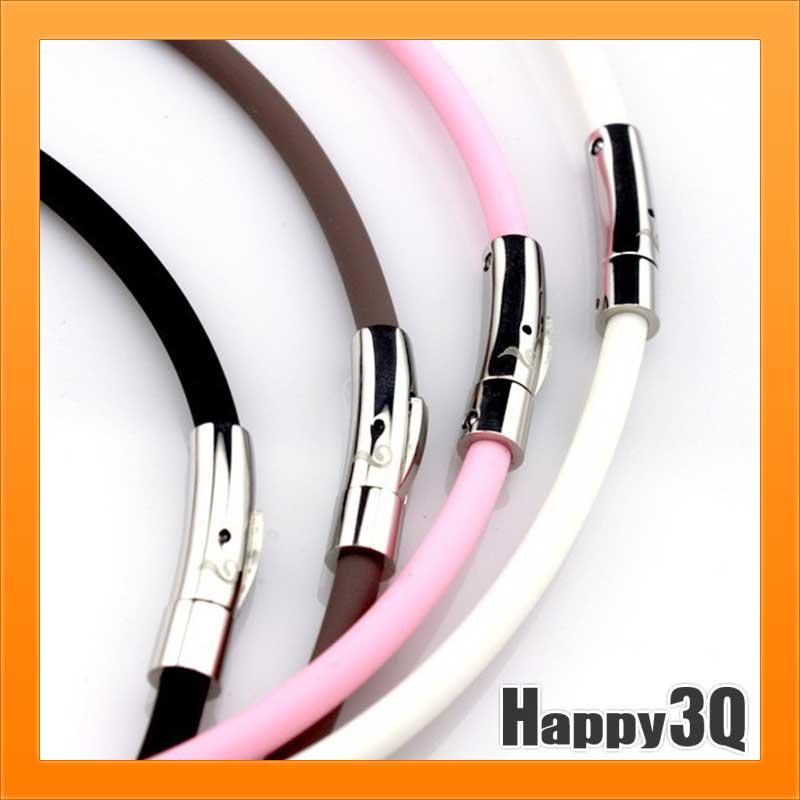 鈦鍺項鍊運動項鍊磁力健康能量簡約造型防水送禮-黑/粉/白/棕【AAA1965】
