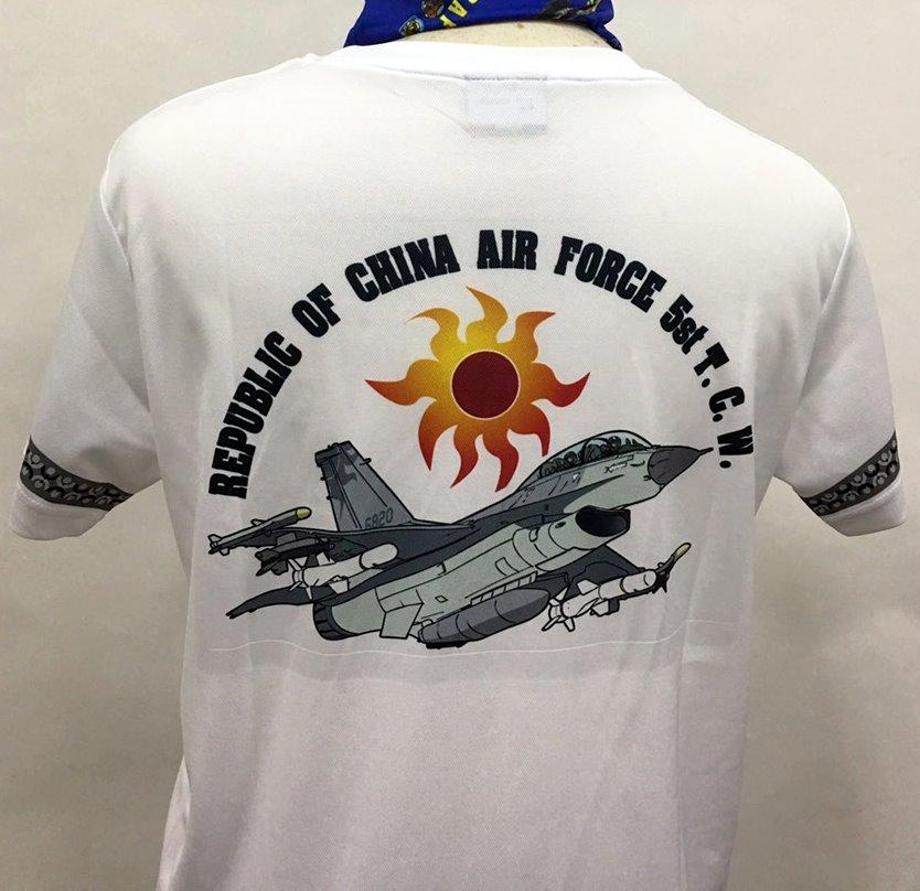 台灣製  空軍短T 空軍排汗衫 F-16  戰鬥機 401聯隊 白色 排汗衫(S1013) 【嘎嘎屋】