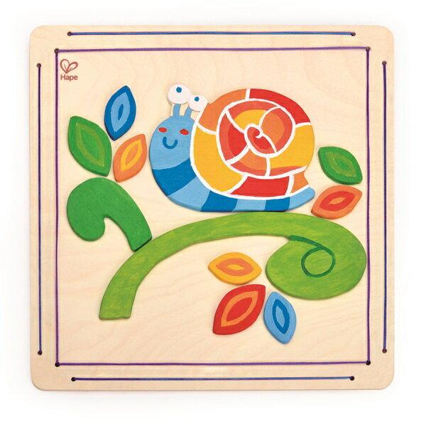 【免運費】《 德國 Hape 愛傑卡》木製工藝系列 - 蝸牛彩繪