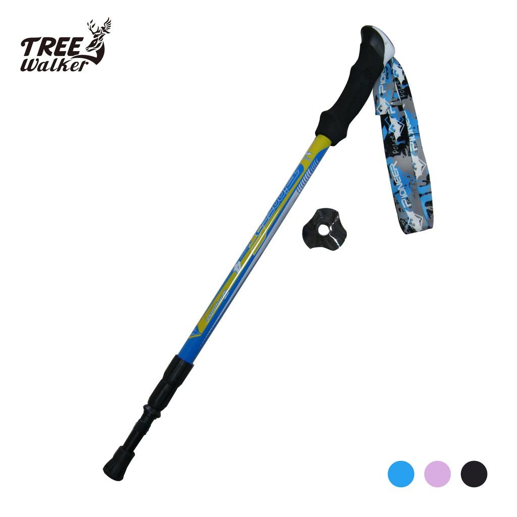 【Treewalker露遊】開拓者超輕碳纖登山杖 pioneer 超輕量鋁合金登山助力杖 80%碳纖