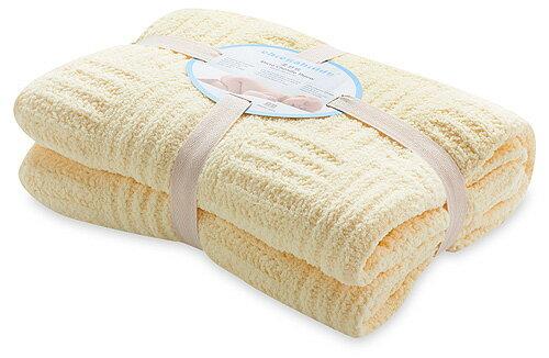 【淘氣寶寶】奇哥 立體格紋柔舒毯(大-100×140公分)(黃色) 【奇哥正品】