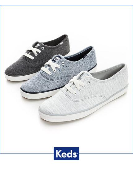 Keds 復古運動綁帶休閒鞋-深灰(限量) 套入式│懶人鞋│平底鞋│綁帶 5