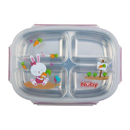 Nuby 不鏽鋼分格餐盒(顏色隨機出貨)★衛立兒生活館★ 1