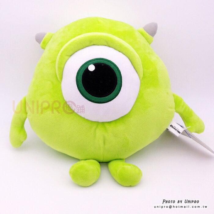 【UNIPRO】迪士尼正版 大眼怪 Mike Q版 30公分 絨毛娃娃 玩偶 抱枕 怪獸大學 大眼仔