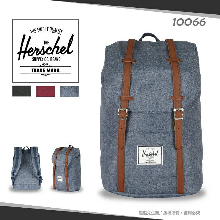 《熊熊先生》Herschel後背包 旅行包 Retreat 大容量雙肩包 15吋筆電/平板包 休閒包 寬版減壓背帶 10066 電腦包 外出包 帆布包 經典書包