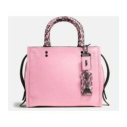 COACH 59235 Rogue系列女士小號手提包粉色款