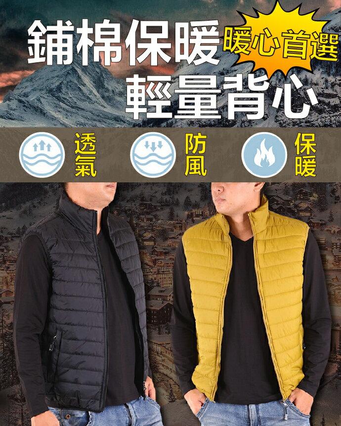 CS衣舖 防風鋪棉保暖輕量背心 三色 2901 4