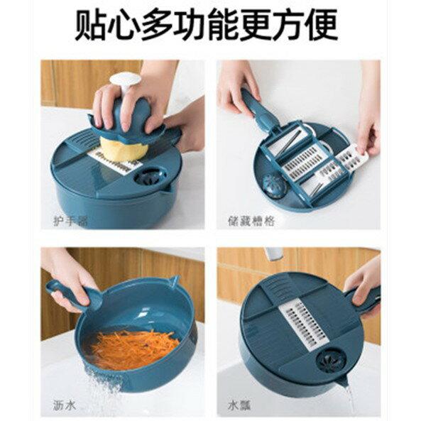 廚房神器多功能削土豆絲切菜機家用切絲刨絲器切片切花切丁擦絲器多功能切菜器