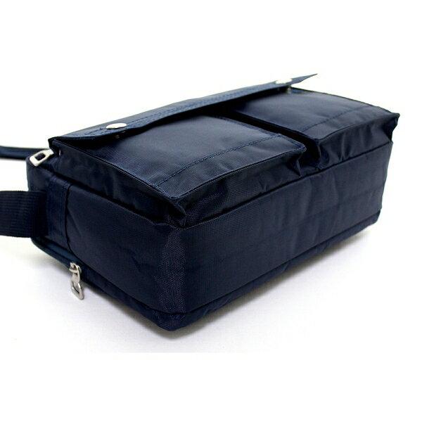 日系雙口袋雙層側背包 (休閒 斜背包 porter風 NEW STAR BL49 5