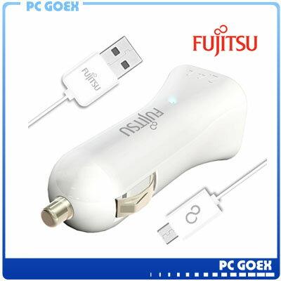 富士通FUJITSU雙USB車用充電器 (UC-01)白色