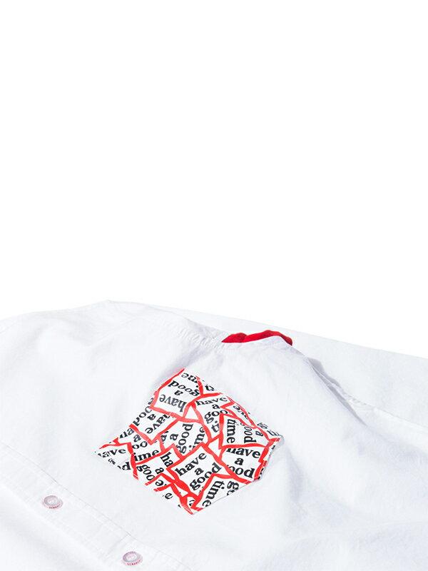 DeMarcoLab x have a good time圖騰口袋襯衫 台灣日本聯名 牛津襯衫 兩色都只剩S號 3