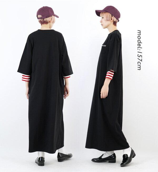 日本e-zakka / 簡約休閒長版連身裙 / 32417-1900005 / 日本必買 代購 / 日本樂天直送(3900) 9