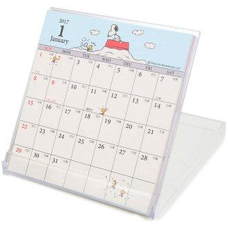史努比2017年月曆桌曆盒裝下雪坐屋頂648063海渡