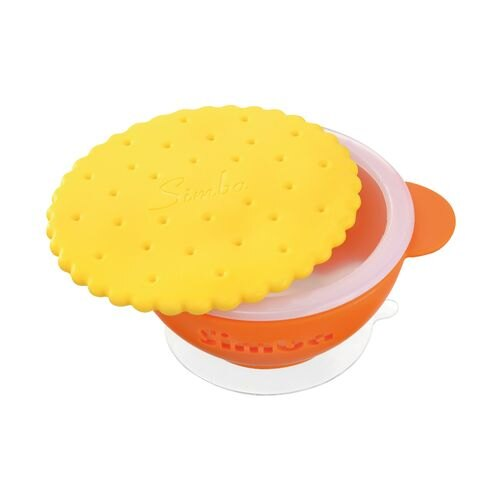 ★衛立兒生活館★小獅王辛巴 simba 曲奇雙層防燙吸盤碗-橘(S3341)#3412