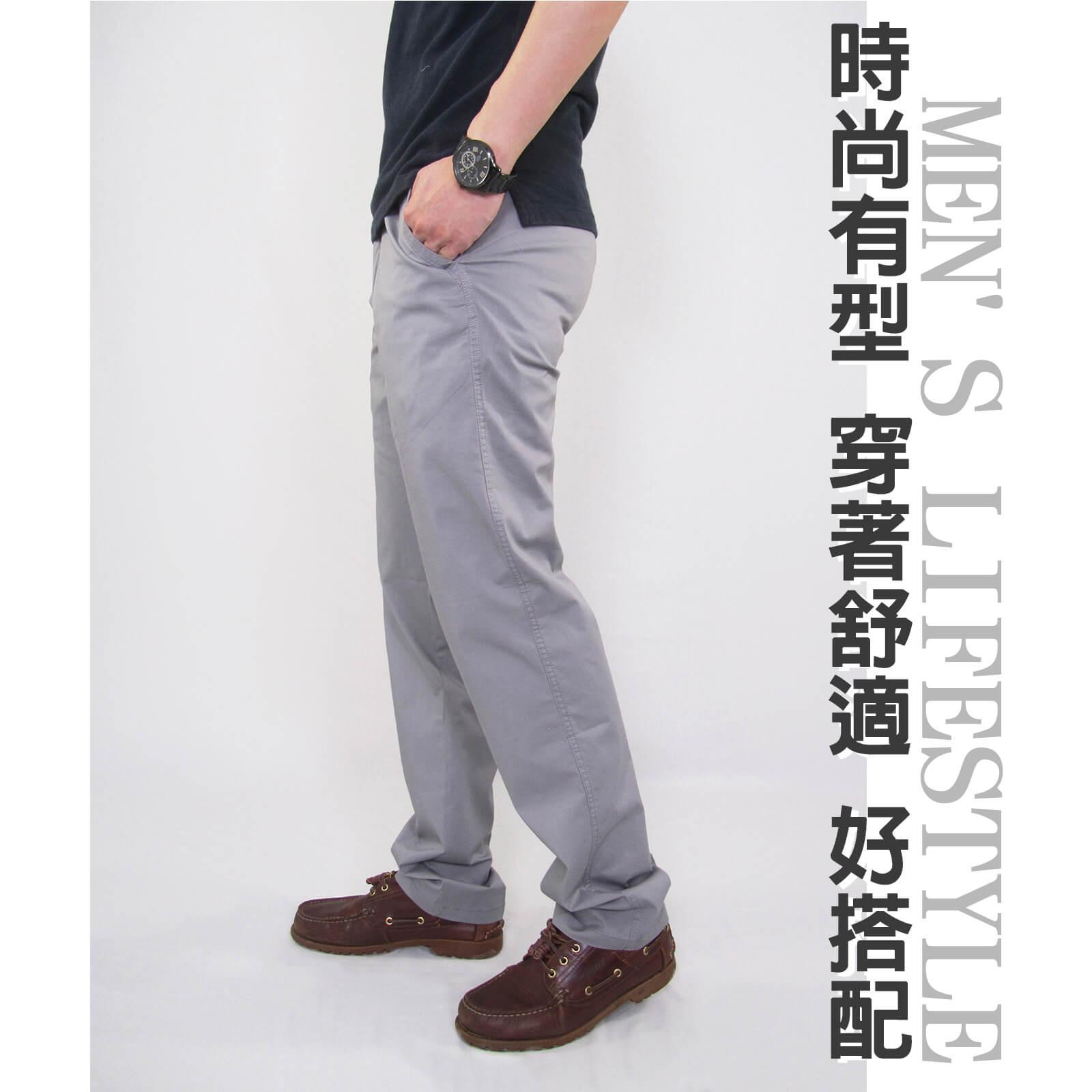 加大尺碼精梳棉平面休閒長褲 大尺寸顯瘦彈性長褲 時尚卡其長褲 PANTS (327-8106-01)銀灰色、(327-8106-02)卡其色 L XL 2L 3L 4L 5L (腰圍30~40英吋) [實體店面保障] sun-e 6