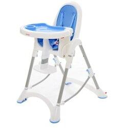【淘氣寶寶*獨家加贈蔓葆 不鏽鋼分格餐盒】台灣製 myheart 折疊式兒童安全餐椅(天空藍)【公司貨】