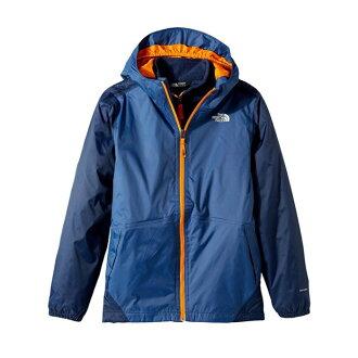 美國百分百【The North Face】連帽外套 TNF 北臉 夾克 兩件式 防水透氣 深藍 S號青年版 I662