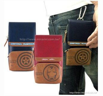 【MARVEL】復仇者聯盟6吋通用多功能登山扣皮革手機袋/萬用袋/腰包