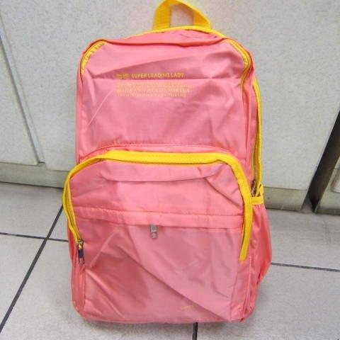 ~雪黛屋~SUPER 後背包 外出休閒旅行後背包上學上班 郊遊爬山後背防水尼龍布材質 #9816粉紅