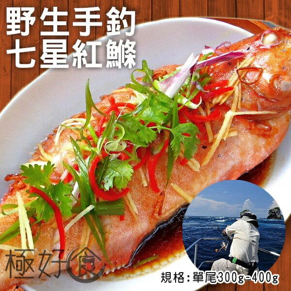 【買一送一】極好食❄【野生手釣】印度洋七星斑紅鰷-/2隻入單尾300g-400g