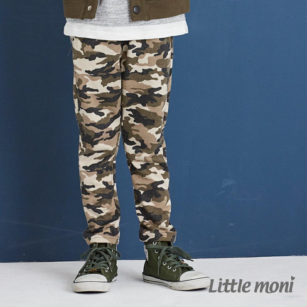 Little moni 迷彩針織長褲-軍綠(好窩生活節) 1
