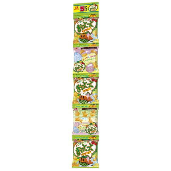 有樂町進口食品 日本 森永MORINAGA 5連 蔬菜 小魚餅乾 健康 黃綠紅 開心吃點心 J45 4902888215469 3