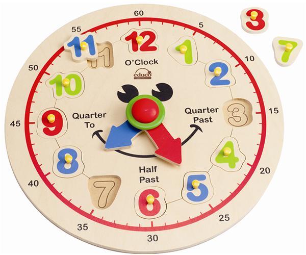 【免運費】《 德國 Hape 愛傑卡》快樂時鐘
