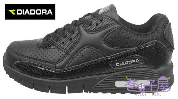 【巷子屋】義大利國寶鞋-DIADORA迪亞多納 女款D寬楦超輕潮流慢跑鞋 200g [2880] 黑 超值價$864免運