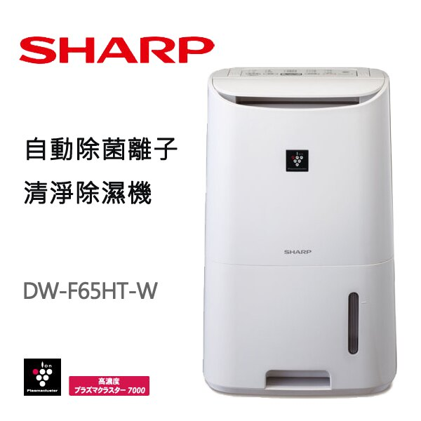 【現貨快出】SHARP夏普 6.5L 清淨除濕機 DW-F65HT-W 智慧除濕