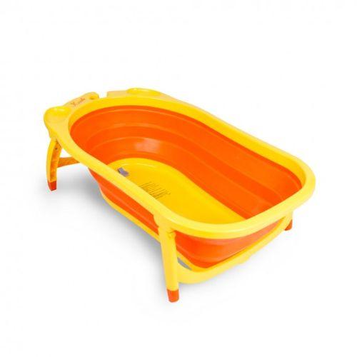 ★衛立兒生活館★凱俐寶 KARIBU TUBBY 折疊式澡盆/浴盆(小鴨色)