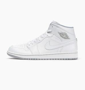 SneakersLife:NIKEAIRJORDAN1MIDAJ1復刻白男鞋US10554724-112J