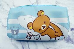 X射線【C222076】懶熊Rilakkuma 方型化妝包-北極熊,鉛筆盒/筆盒/筆袋/筆筒/文具/收納