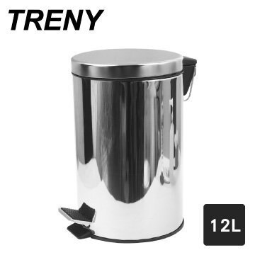 TRENY靜音緩降不銹鋼垃圾桶-12L /27*27*40