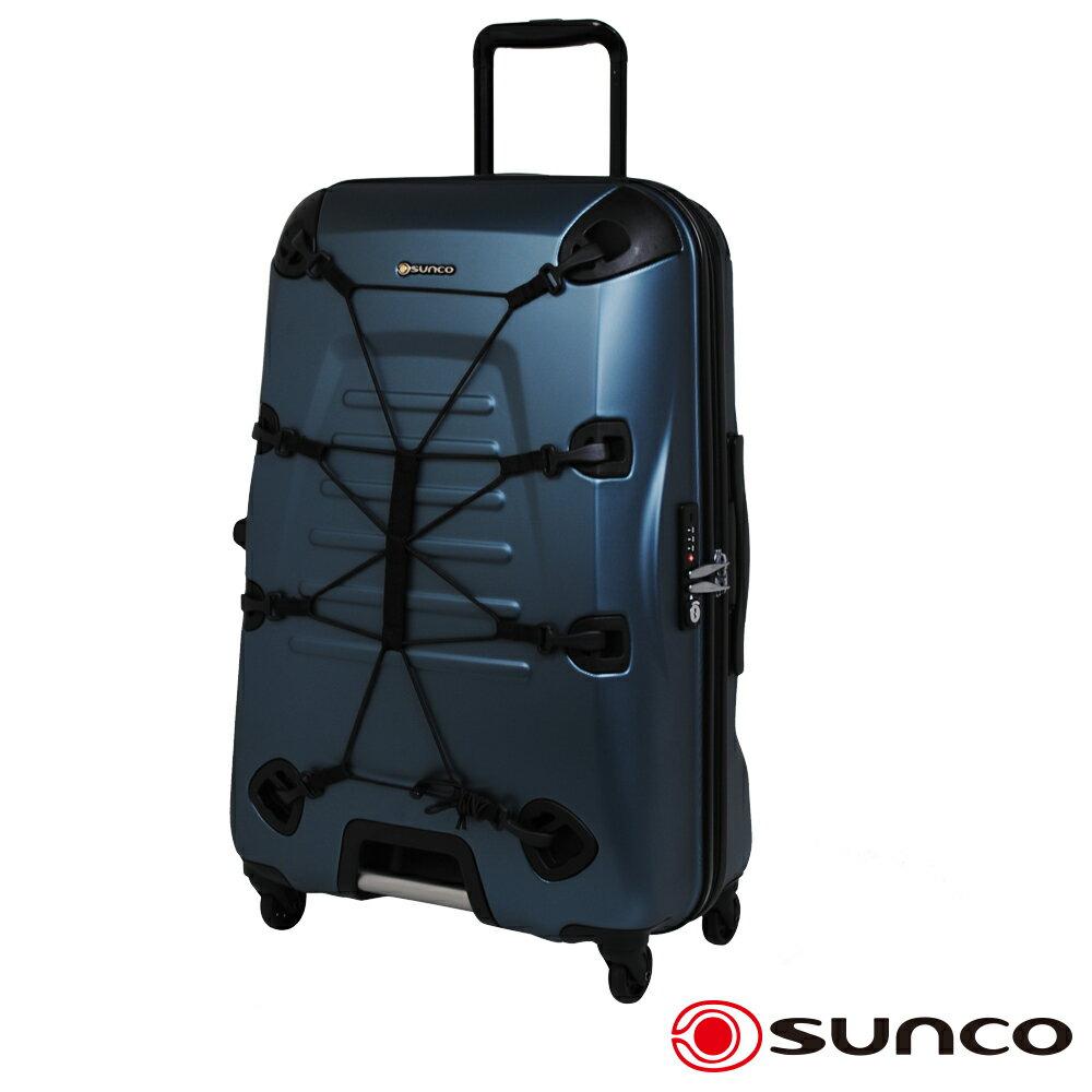 【日本 SUNCO】日本設計 25吋 PC 拉鍊拉桿 360度超靜音車輪 輕量 行李箱
