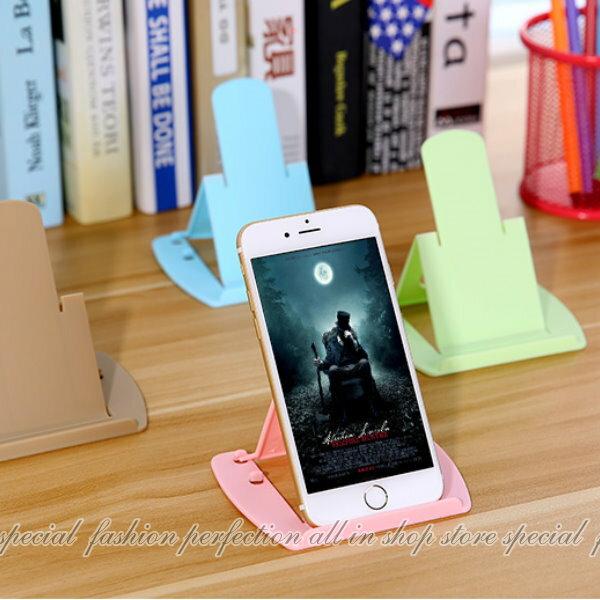名片型摺疊手機支架-大 卡片式塑膠手機平板支架iphone7 懶人支架 立架【GK335】◎123便利屋◎