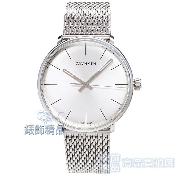 【錶飾精品】CalvinKleinCK手錶K8M21126時尚雅痞大三針銀白面米蘭錶帶男錶