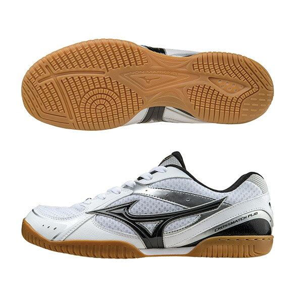 CROSSMATCH RX3 基本型體桌球鞋 81GA163009(白X黑)S【美津濃MIZUNO】