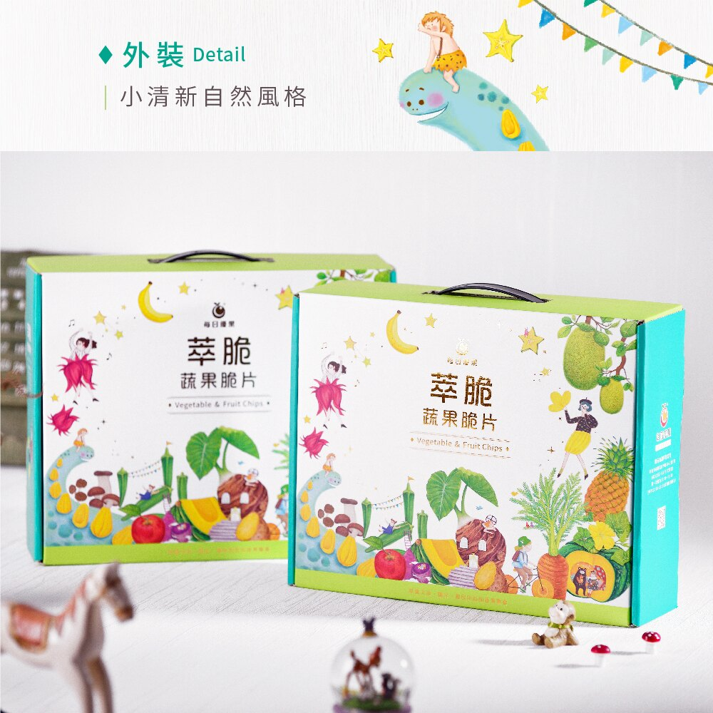 萃脆蔬果脆片禮盒【共6種選擇】每日優果 3