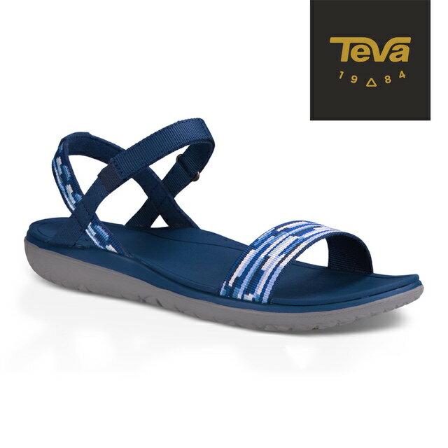 《台南悠活運動家》TEVA Terra Float Nova 女休閒涼鞋(藍白) 1009808TBMT