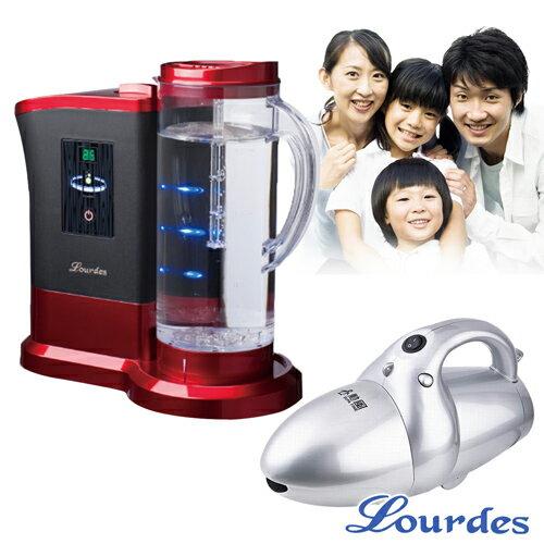 日本Lourdes 羅德氫騎兵負氫水(高濃度水素水) 送勳風 威鯨手提式輕巧吸塵器X1