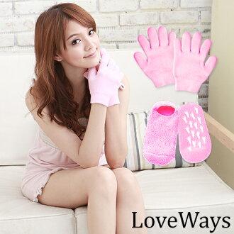 【Love Ways 羅崴詩】凝膠保濕手套(全指)送保濕足襪(全包)