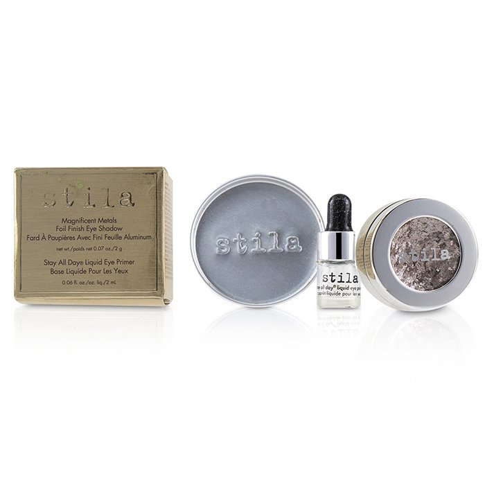 Stila 詩狄娜 金屬色高光眼影 Magnificent Metals Foil Finish Eye Shadow With Mini Stay All Day Liquid Eye Primer - # Metallic Dusty Rose 2pcs