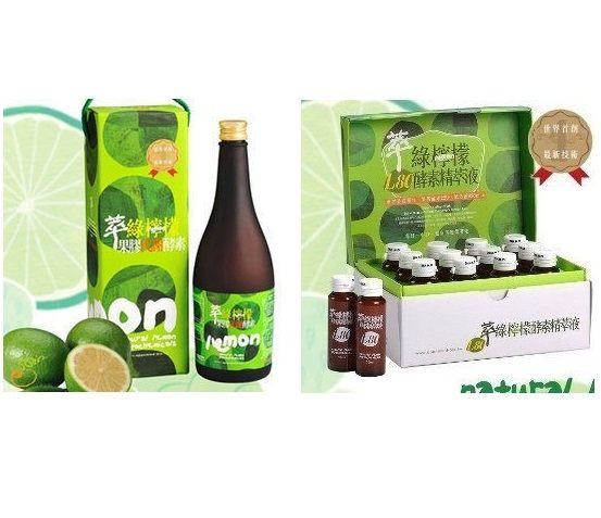 達觀萃綠檸檬(果膠代謝酵素6瓶+L80酵素精萃液6盒)特惠組