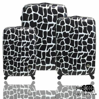 ✈Just Beetle長頸鹿紋系列PC輕硬殼三件組旅行箱 / 行李箱 1