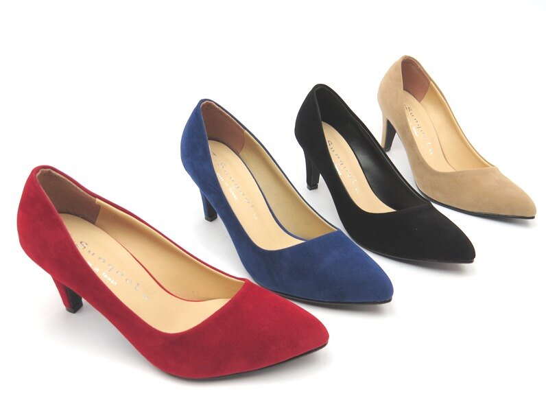 *高跟鞋* 日系典雅高跟包鞋08-6538(紅/藍/黑/駱)☆【彩虹屋】☆現+預