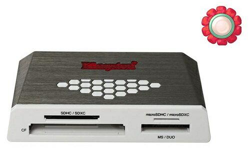 KINGSTON 金士頓 USB3.0【FCR-HS4】FCR HS4 可讀 micro SD SDHC SDXC CF M2 高速多合一 多功能讀卡機 讀卡機